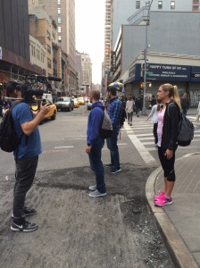 Filming in NYC