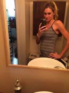 Sarah at 22 weeks pregnant